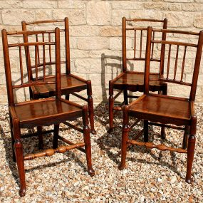 Set of Four Ash Spindle-Back Chairs