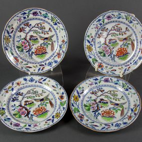 Four Davenport Stone China Tea Plates