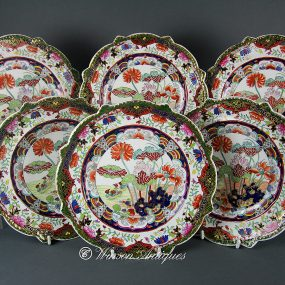 Mason's Ironstone China Plates - Muscovy Duck Pattern