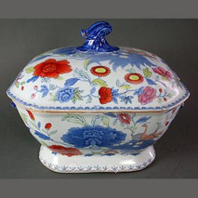 Mason's Ironstone China Soup Tureen - Indian Grasshopper Pattern