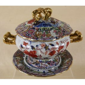 Mason's Ironstone China Sauce Tureen & Stand