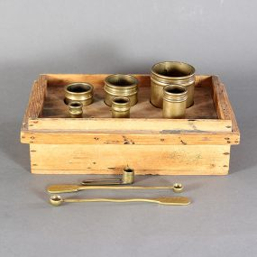 Set of 19th Century Brass Seed Measures