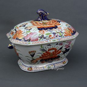 Mason's Ironstone China Soup Tureen - Water Lily Pattern