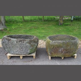 Two Natural Stone Troughs