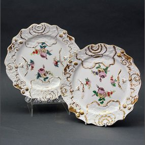 Pair of Mason's Ironstone China Cabbage Leaf Plates